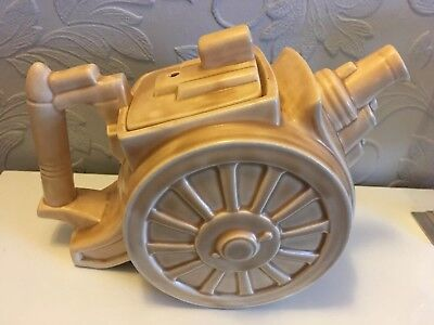 "1930s George Clews & Co pottery ""BELISHA"" artillery / cannon teapot"