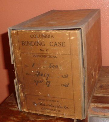 1921 Columbia Prescription Binding Case Globe Wernicke Co. Apothecary Drugstore