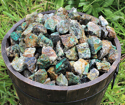 Bulk 1/2 lb Lot Rough Natural Chrysocolla (Raw Crystal Stone Tumbler Rock) 8 oz