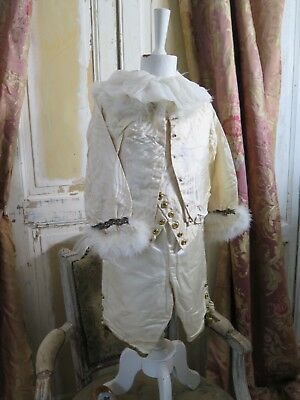 Antique french THEATRE 20s little Prince Childs dress COSTUME Napoleon SHABBY