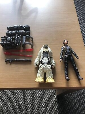 Star Wars Rogue One Moroff And Jyn Erso Action Figures