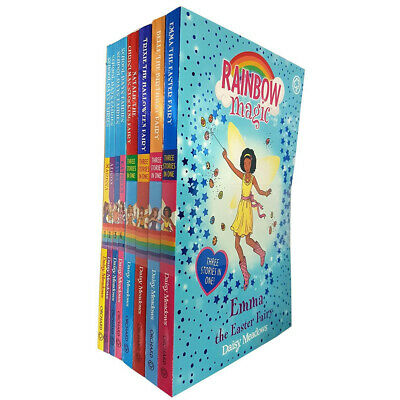 Rainbow Magic 3 stories in 1 and School Days Fairies Series 8 Books Set NEW Pack