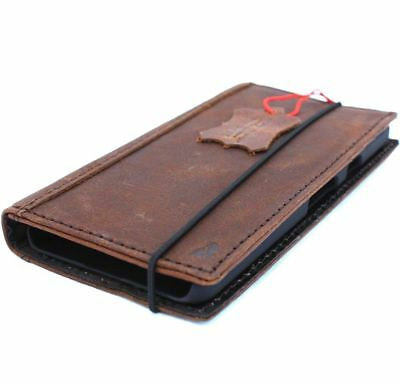 genuine real vintage leather case for Google Pixel 2 book wallet cover holder ID