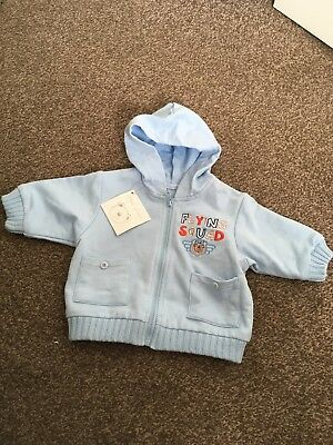 BNWT 0-3 months boys Zip Up Cotton Top