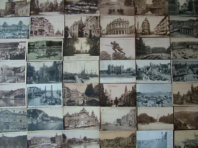 100 Very Old Black & White Postcards of BELGIUM. Standard size. Early 1900's.