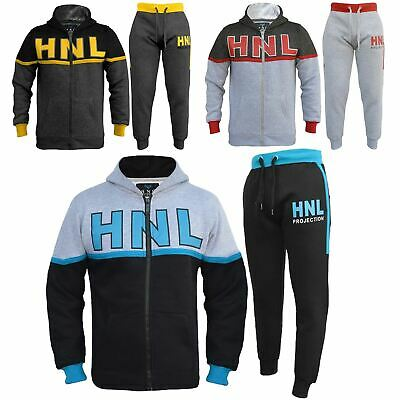 Kids Boys Girls Tracksuit Designer HNL Zipped Top Bottom Jogging Suit 7-13 Years