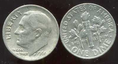 UNITED STATES - USA  one dime 1966    ( aus )