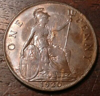 1920 Great Britain One Penny 1284