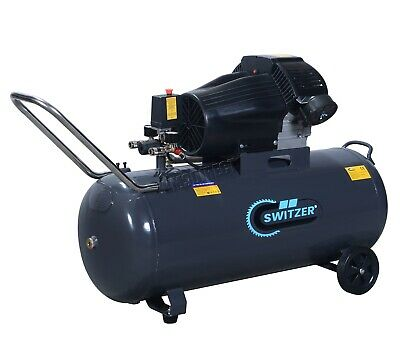 SwitZer Air Compressor 3HP 13CFM 100L Litre 230V 8 Bar Tank Twin Cylinder AC007