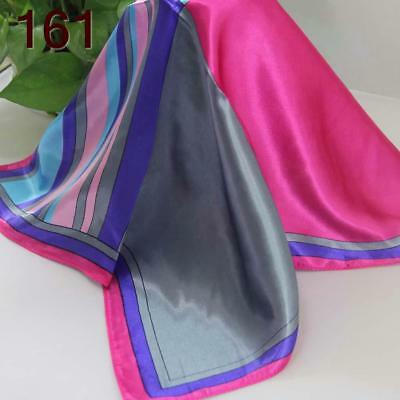 Office Women Ladies Elegant Small square Scarves Silky Office Kerchief Scarf 161