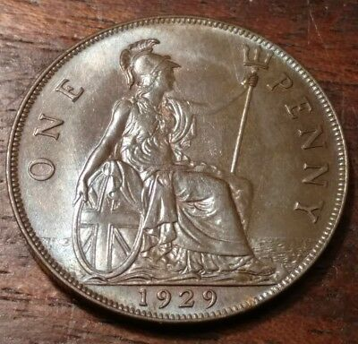 1929 Great Britain One Penny 1286