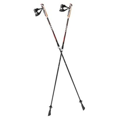 LEKI Instructor Lite 100 - 125 cm schwarz-rot Walkingstock Nordic Walking