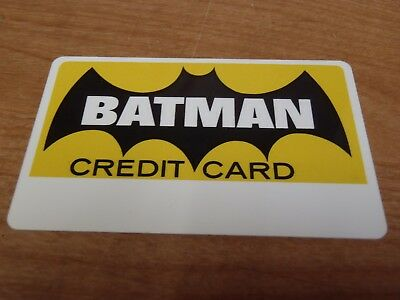 Batman Credit Card - *mint Condition* - Rare From 1966