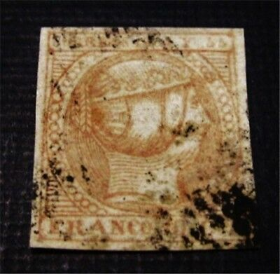 nystamps Spain Philippines Stamp # 1 Used $350