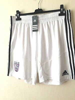 Ipswich Town Football Shorts Size Xl Itfc Adidas Soccer White Home