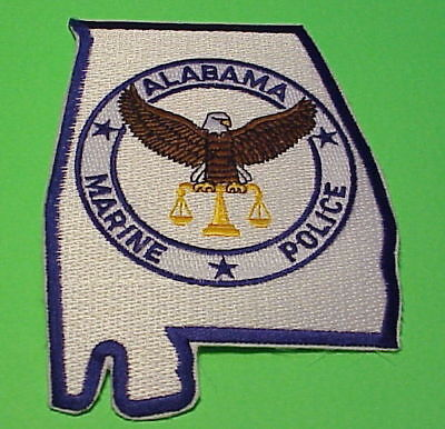 Alabama  Marine Police  Conservation  ( Type 1 )  Police Patch   Free Shipping!!