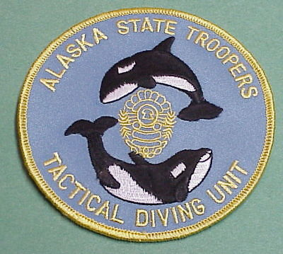 Alaska State Troopers  Tactical Diving Unit  Police Patch   Free Shipping!!!