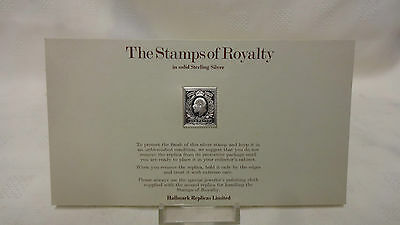 1977 The Stamps Of Royalty Sterling Silver Postage Stamp - No 9 - One Penny