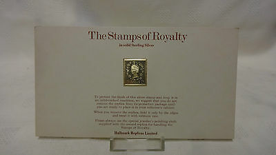1977 The Stamps Of Royalty Sterling Silver Postage Stamp - No 23 - 1d