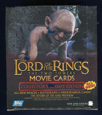 2003 Topps LOTR Rings Two Towers Factory Sealed Collector's Update Hobby Box (C)