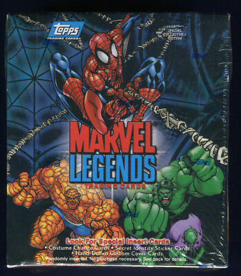 2001 Topps Marvel Legends Factory Sealed 36 Pack Hobby Box (A)