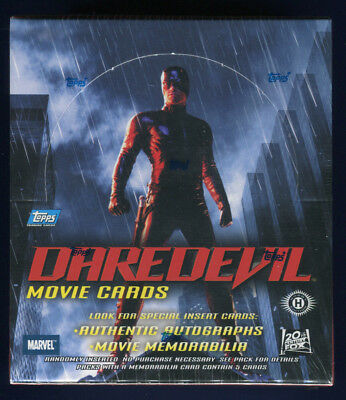 2003 Topps Daredevil Movie Factory Sealed 36 Pack Hobby Box (A)