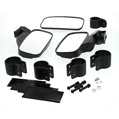 Black UTV Side & Rear View Mirror Kit for Polaris Ranger 500 800 900 1000
