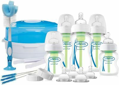 Dr Browns OPTIONS DELUXEBORN GIFT SET Wide Neck Bottle Cleaning Brush New