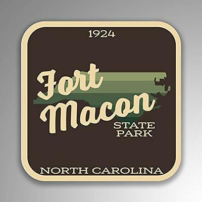 Jmm Industries Fort Macon State Park Decal Sticker  2 Set  4 Inches By 4 Inche