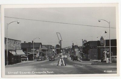 RPPC~Crossville,TN~1950s~Stores~Gulf Gas Station Main St~Cumberland Co,Tennessee
