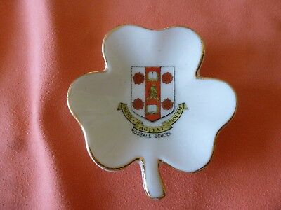 A 'rossall School'  Porcelain / China Crested  Pin Tray