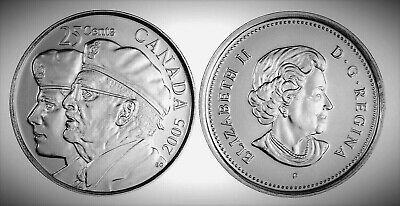 Canada 2005P Year of the Veteran 25 Cents Gem BU UNC Quarter!!