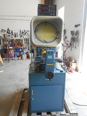 "Deltronic 14"" Optical Comparator Model Dh14-Dec With  Heidenhain Digital Readout"