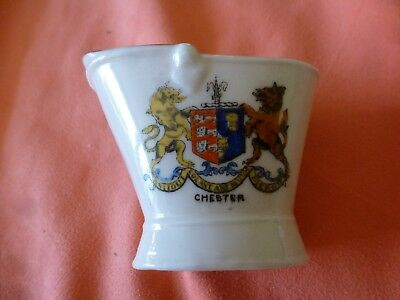 A 'chester'  Porcelain / China Crested  Coal Scuttle