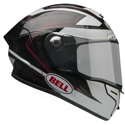 New 7069551 Bell Pro Star Sl Ratchet Helmet Large Black White Red Racing Track