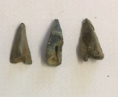Ancient Greek. Bronze Arrowheads Dating To Circa 500-400 B.c.