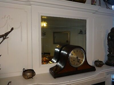 Antique 'Haller' Inlaid Mahogany Cased Napoleon Hat Striking Mantel Clock.