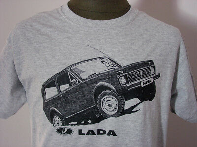 LADA NIVA ★ heather T-Shirt * NEU Siebdruck * Jeep * 4x4  PKW * Allrad * Offroad