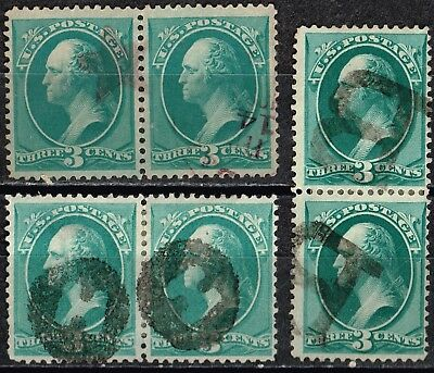 Variety Group - 3 Pairs Of Banknotes - Great Fancy Cancels - Super Nice (Db26)