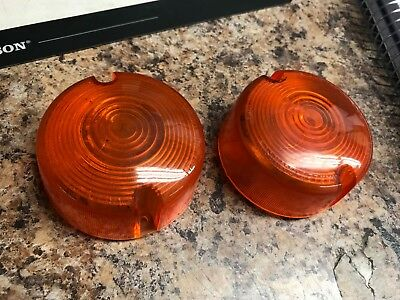 *Harley-Davidson Turn Signal Lenses, Used, Set of 2*