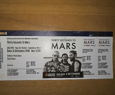 Concerto Thirty Seconds To Mars + Mike Shinoda Milano Area Expo 8 Settembre 2018