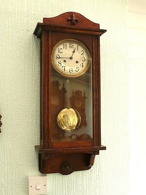 Antique Striking Wall Clock - Serviced and Working order