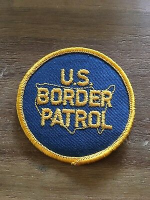 US BORDER PATROL old round patch shirt Selten