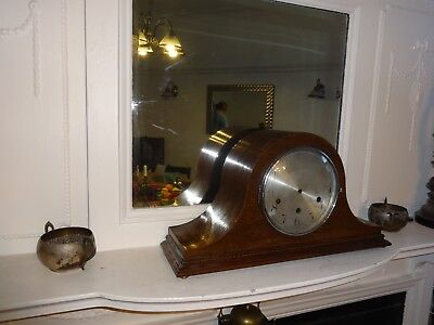 """Antique """"Enfield W/minster chimes +Napoleon Hat Style + Empire Mantel Clocks"""