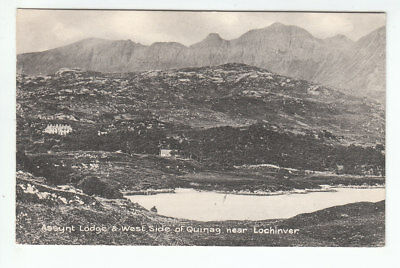 Assynt Lodge And Quinag Lochinver Sutherland 24 July 1925 FWH Old Postcard