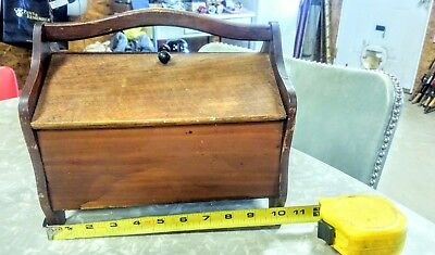 Vintage Small Wood Sewing Box,used,neat!