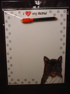 AKITA Magnet WIPE OFF Note LIST Eraseable Message MEMO DRY ERASE BOARD puppy dog