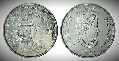 Canada 2013 War of 1812 de Salaberry Frosted 25 Cents UNC Gem BU!!