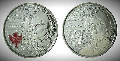Canada 2013 War of 1812 Secord Colourized & Frosted 25 Cents UNC Gem BU!!