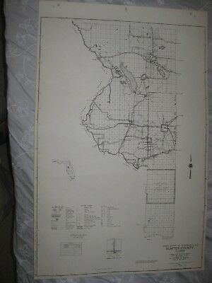 The Villages Florida Map.Huge Rare Antique 1956 Jefferson County Florida Dated Map Monticello